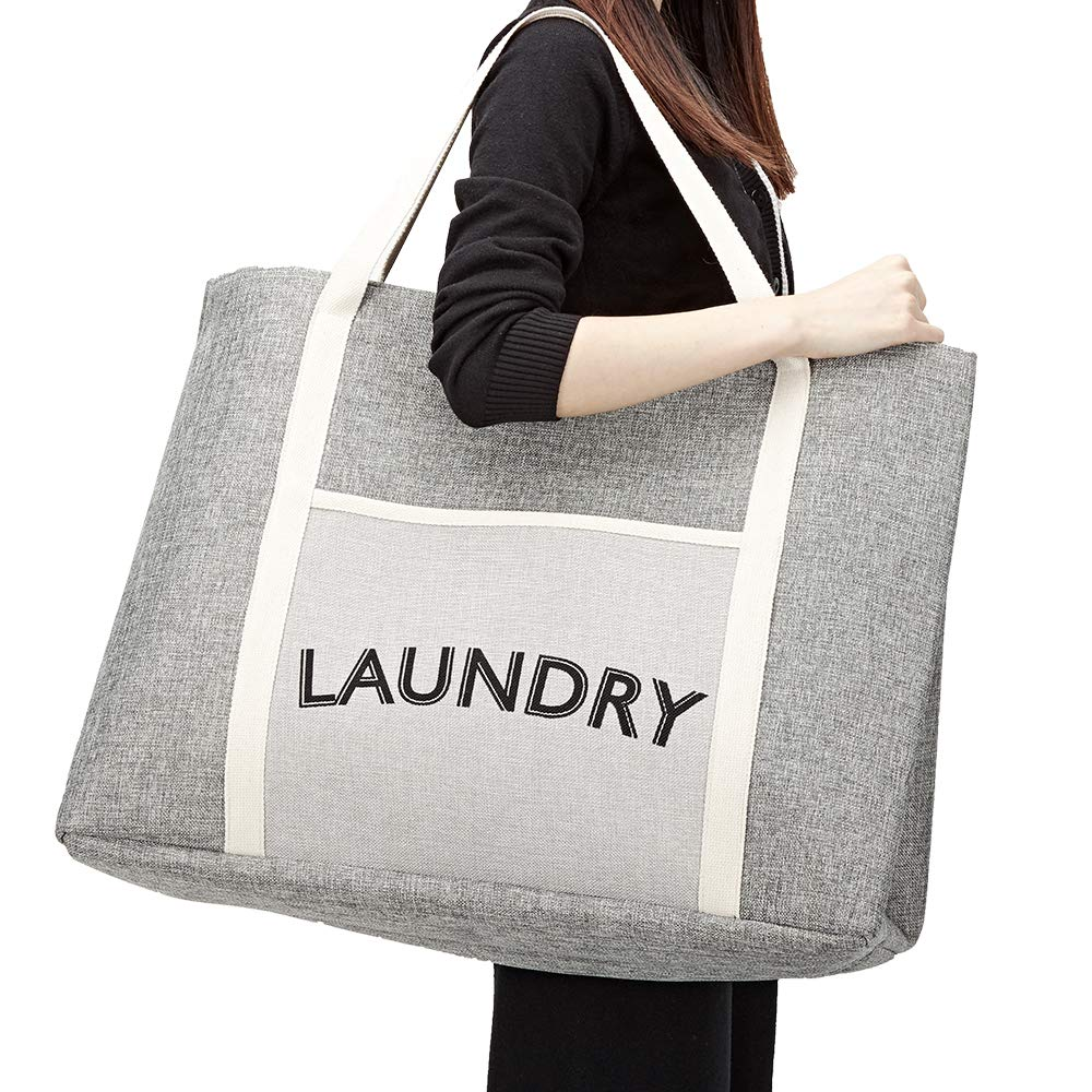 Amazon.com: Homest - Bolsa para la colada, cesta grande para ...