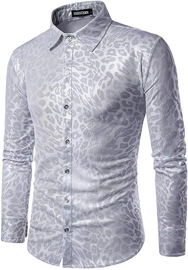 CHENS Camisa/Casual/Unisex/L Camisas de Hombre Personalidad ...