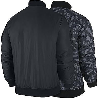 15e85860d9643c Jordan mens Air Jordan Fly Reversible Quilted Camo Mens Jacket 682815-010 M  - Black