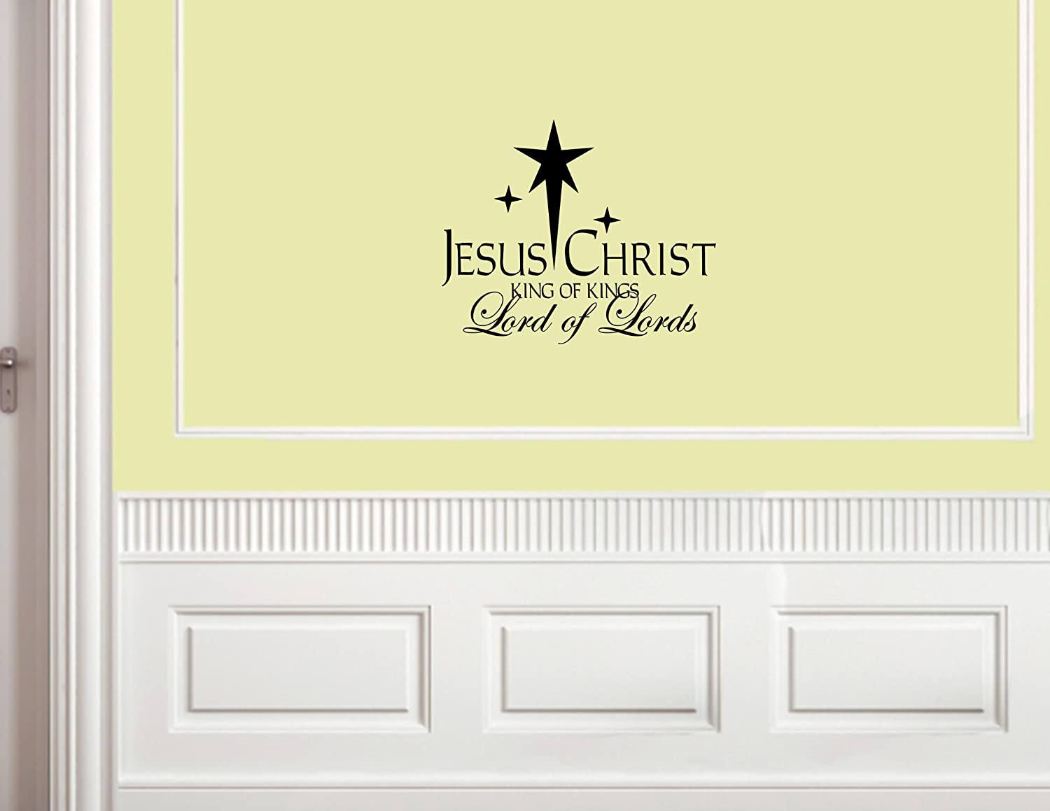 Amazon.com: Christmas Decoration Wall Decals Jesus Christ King of ...
