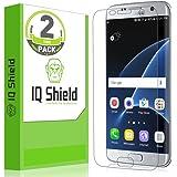 IQ Shield Galaxy S7 Edge Screen Protector, LiQuidSkin HD Clear Anti-Bubble, 2-Pack