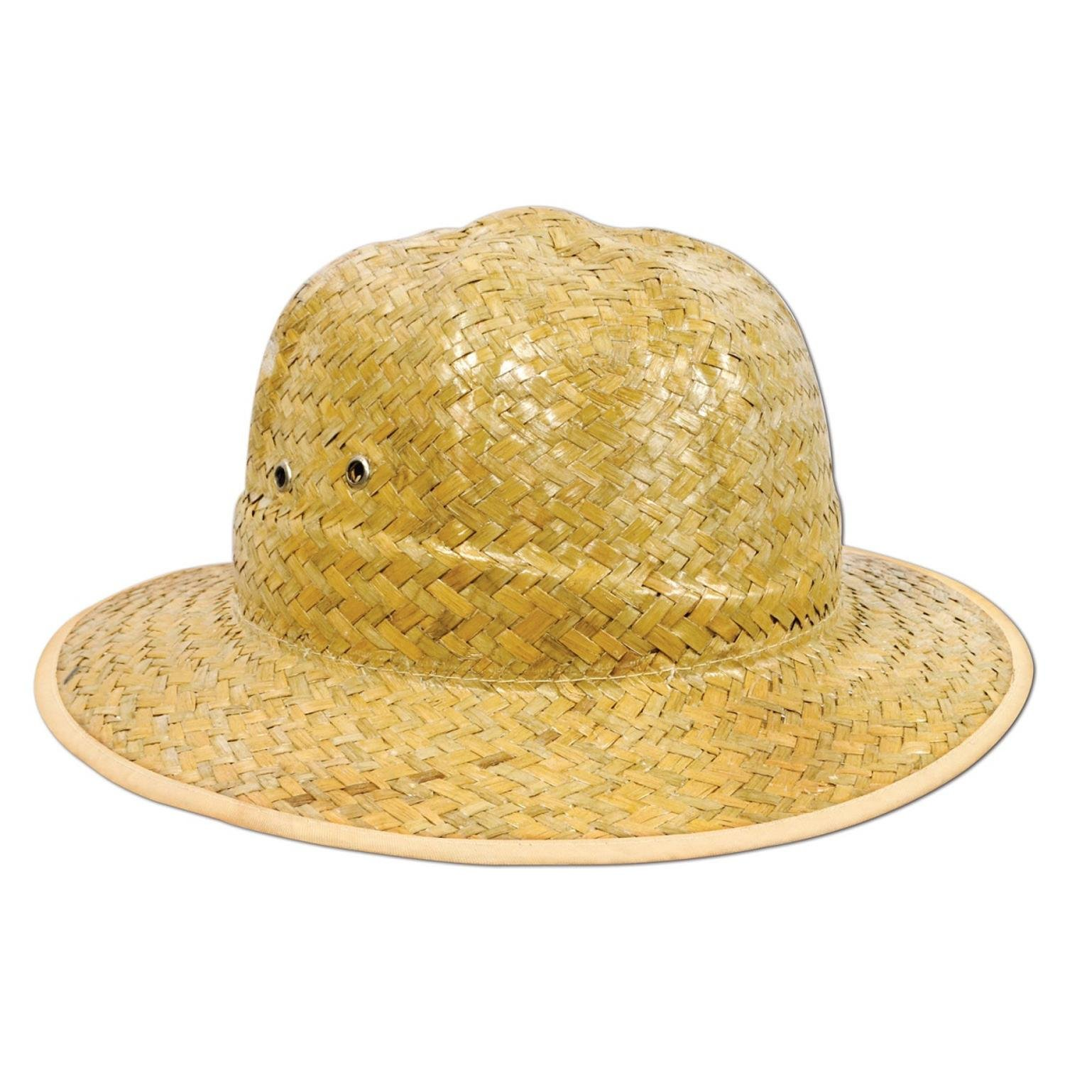 Club Pack of 60 Jungle Themed Safari Straw Hat Costume Accessories by Party Central