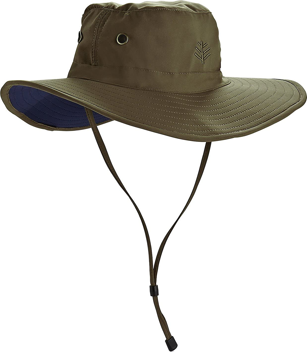 Coolibar UPF 50+ Men's Leo Shapeable Wide Brim Hat - Sun Protective