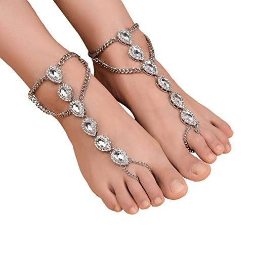 Anklets Jewelry & Watches Generous Fashion Gold Crystal Chain Anklet Bracelet Barefoot Sandal Beach Foot Jewelry Reliable Performance