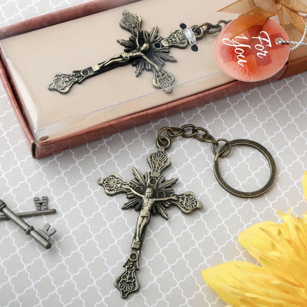 86 Jesus on the Cross Design Key Chains Religious Favors