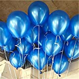 "AnnoDeel 100 Pcs 10"" Latex Blue Balloons, Pure Pearl Helium Wedding Decorations Birthday Party Decorations Blue Balloons"