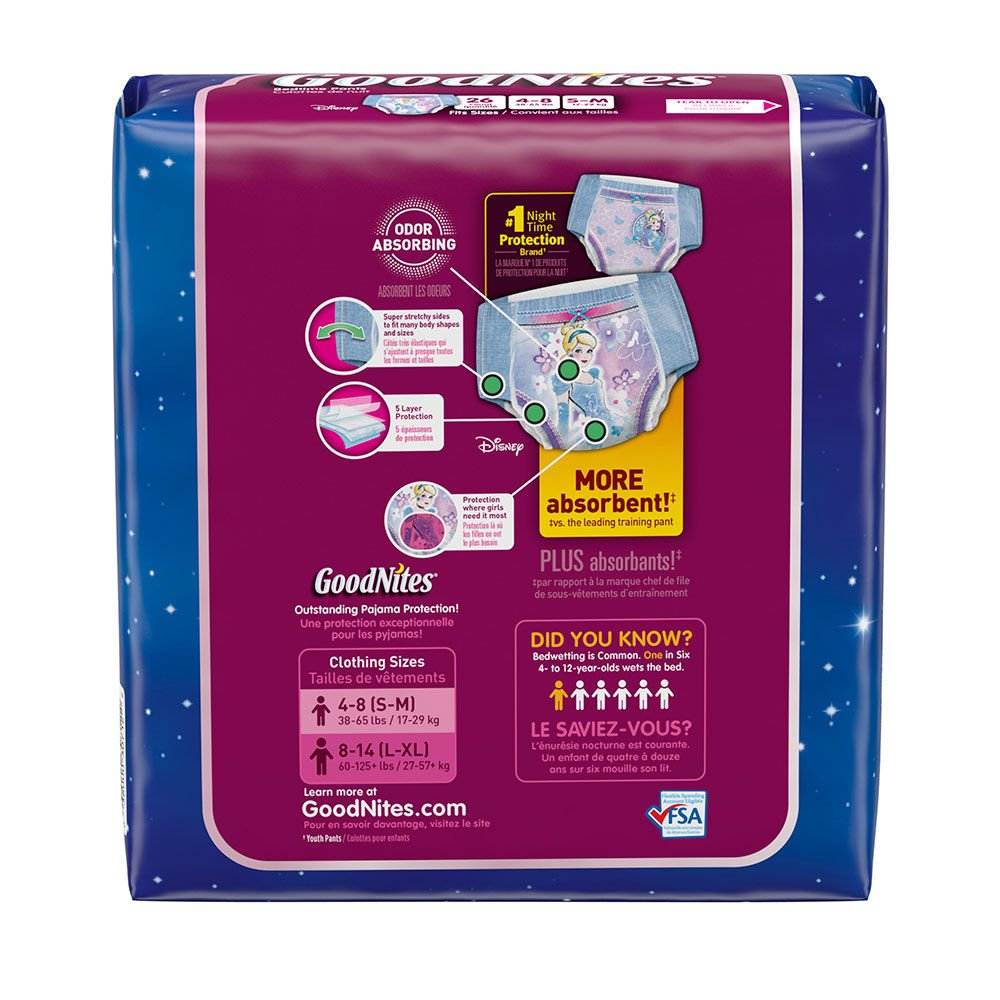 Amazon.com: Pull-Ups GoodNites Underwear, Girls, Small-Medium (38-65 lbs),  Case of 78 (3 Mega bags of 26): Health & Personal Care