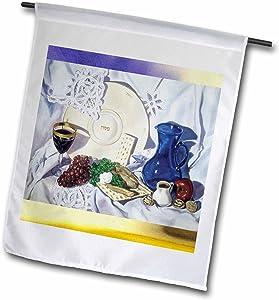 3dRose fl_13945_1 Passover Seder Garden Flag, 12 by 18-Inch