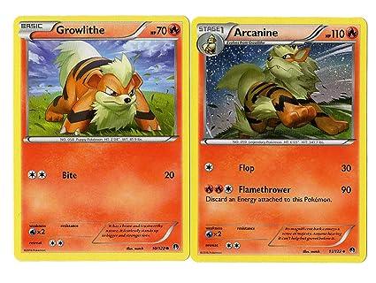 Amazon.com: Set de evolución – Arcanine Growlithe ...