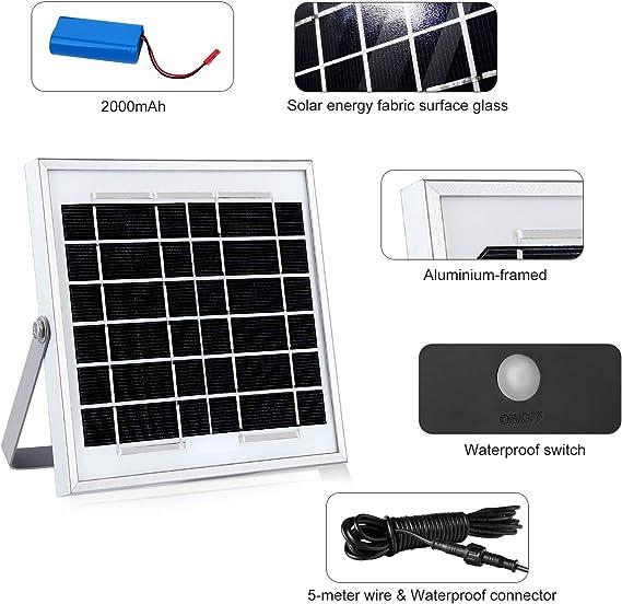 CLY Foco LED Solar con Sensor de Movimiento, Foco Solar LED ...