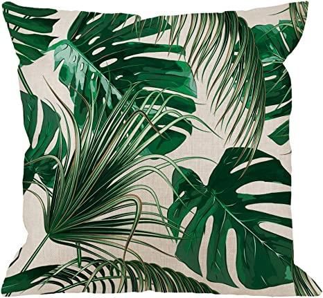 Jungle Leaves Pillow Case Sofa Bedding Couch Party Indoor Outdoor Cushion Cover