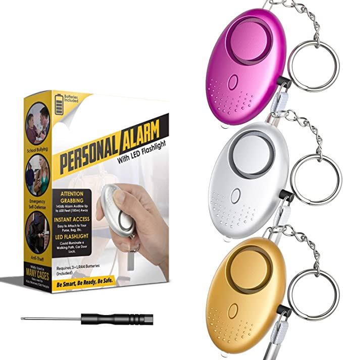 Personal Alarm 140db Police Approved Security Sirens Keychain With Flashlight Panic Rape Attack Self Defense Mini Safety Sound For Women Kids Elderly Students 3 Pack Amazon Co Uk Diy Tools