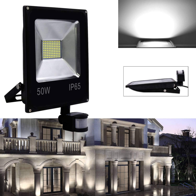 Karpal Projecteur LED 20W avec d/étecteur de mouvement Projecteur LED IP66 /étanche blanc chaud 1600 LM Projecteur Projecteur Lampe murale pour garage de jardin Txrain de sport