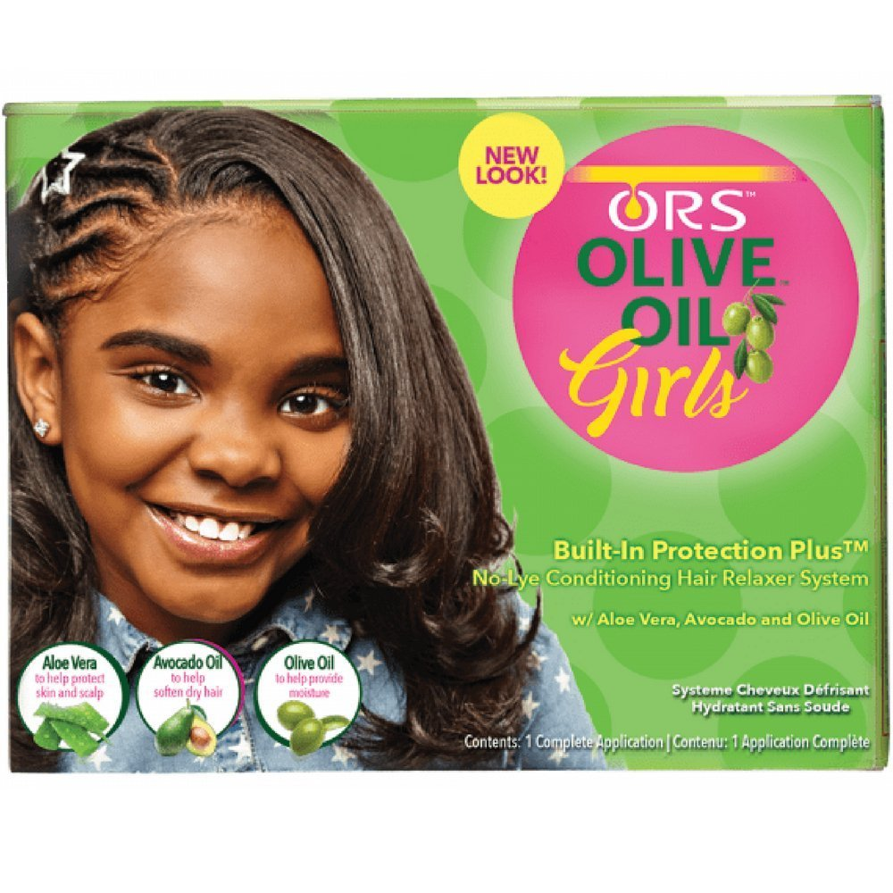 Organic Root Olive Oil Girls Relaxer Kit (per capelli sensibili) Organic Root Stimulator 191556