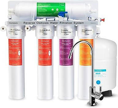 Geekpure - Sistema de filtro de agua para osmosis inversa (75 GPD): Amazon.es: Bricolaje y herramientas