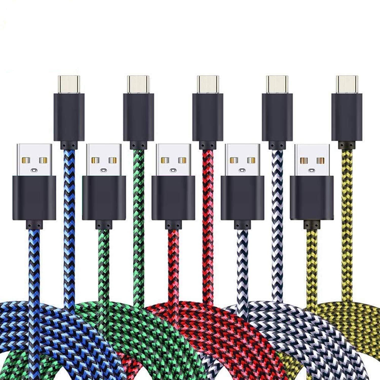 5 Cables Trenzados USB-A a USB-C 90cm AOSOK -MXFY