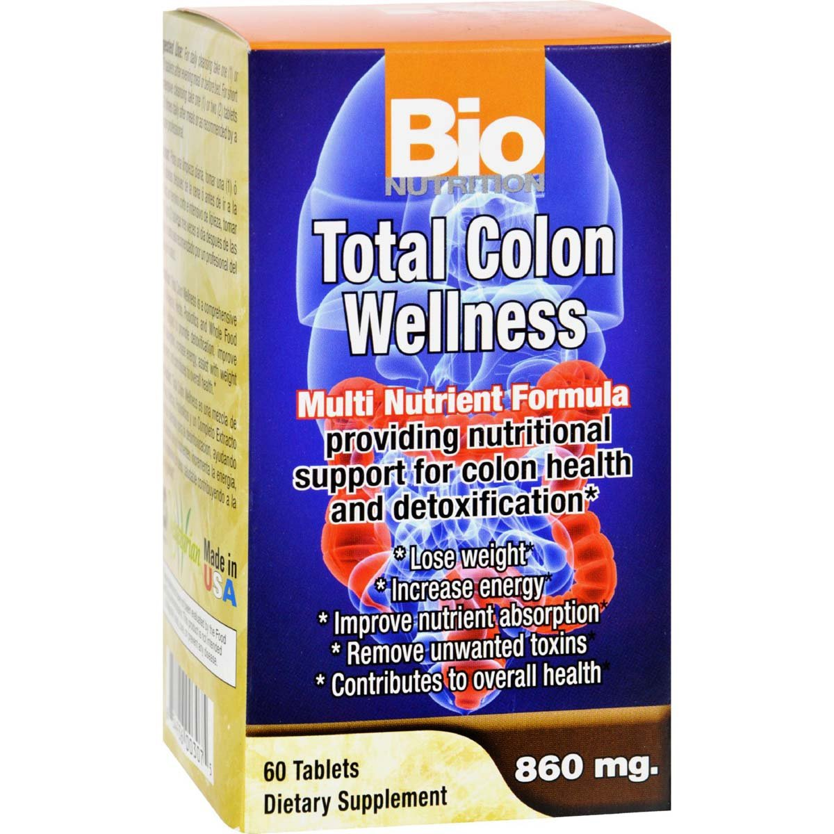 Bio Nutrition Total Colon Wellness Tabs, 60 Count