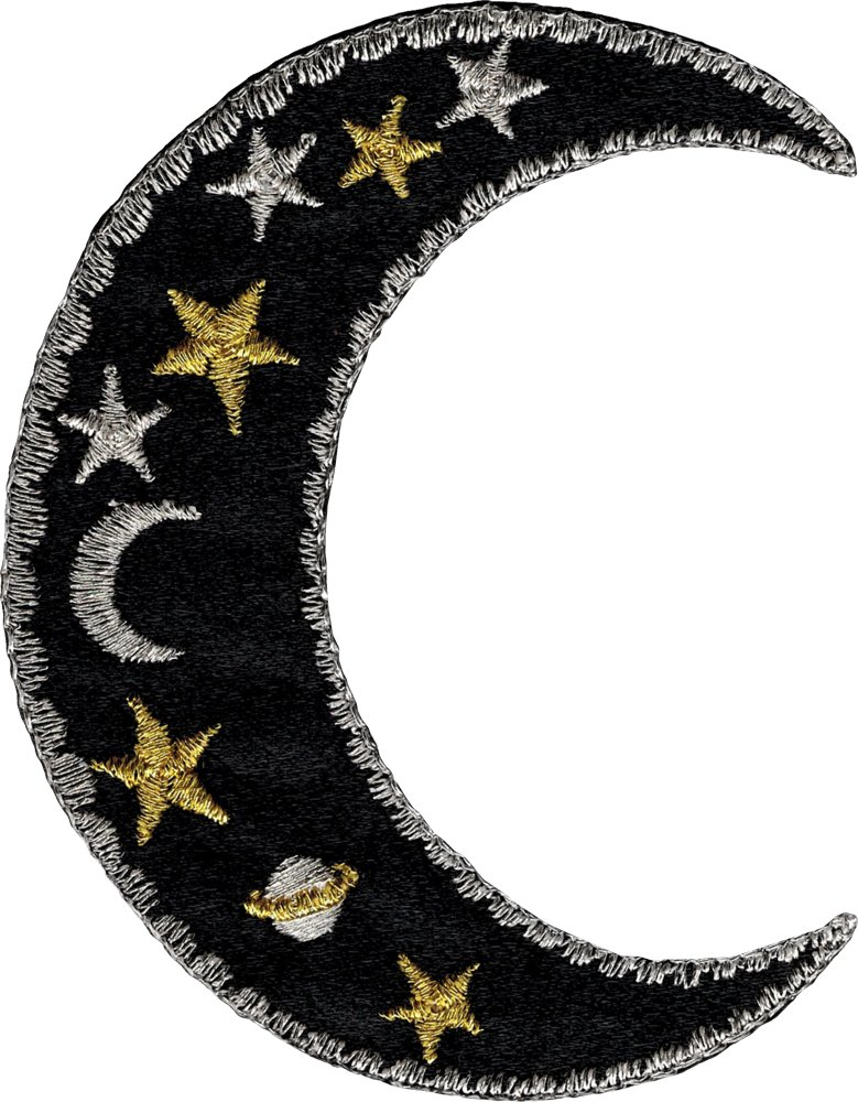 Amazon Moon Stars Embroidered Patch 3 X 2 12 Home Kitchen