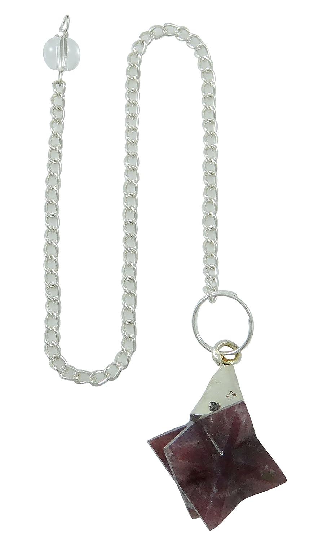Harmonize Amethyst Stone Merkaba Pendulum Reiki Healing Crystal Meditation Balancing Energy Genrator Dowsing CDR755A-1