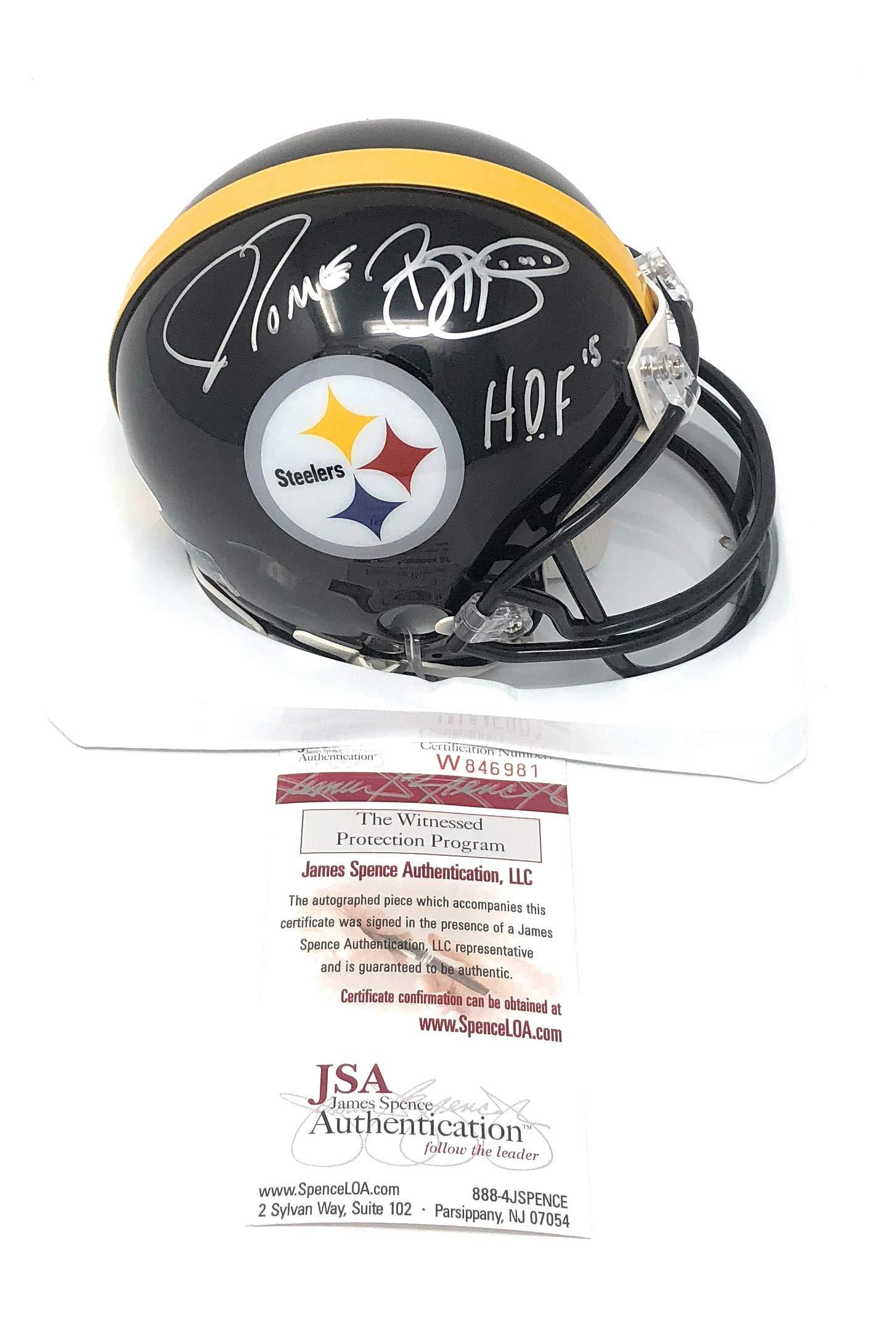 Jerome Bettis Pittsburgh Steelers Signed Autograph Mini Helmet Helmet HOF Inscribed JSA Certified