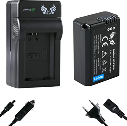 Sk Akku Sony Np Fw50 1050mah Ladegerät Charger Für Kamera