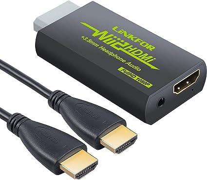LiNKFOR - Convertidor HDMI de Wii con cable HDMI de 91 cm/Wii a ...