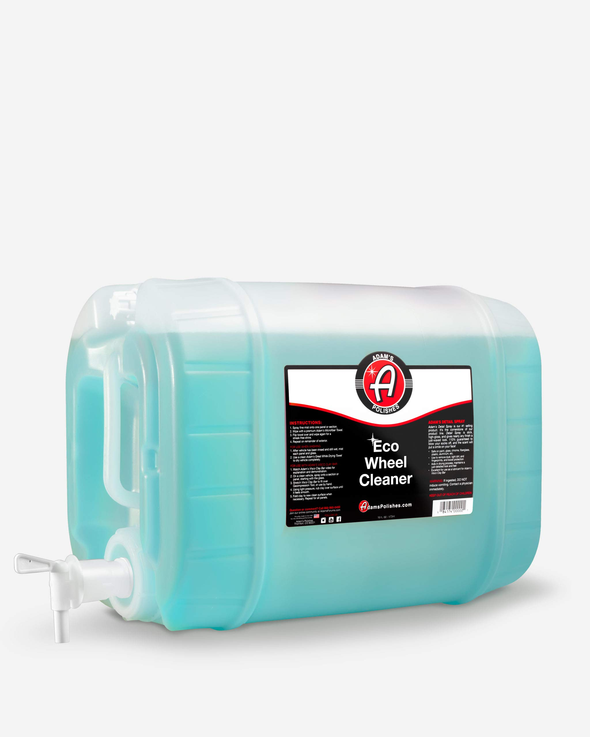 Adam's New Eco Wheel Cleaner - Safely Clean Any Wheel Finish - Tough on Dirt and Brake Dust But Gentle on Your Wheels and The Environment (5 Gallon) by Adam's Polishes