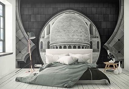 Papel tapiz fotomural cupola finestre muri piastrelle archi