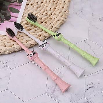 Jiamins Panda Brosse /à dents souple en bambou pour enfants de 3 /à 12 ans