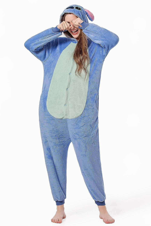CHORADE Stitch Onesie for Women Adult Costume Onsie Pajamas Sleeper Halloween