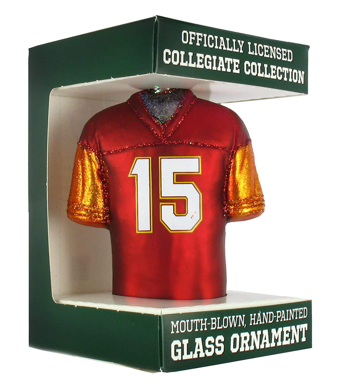 check out 8058a 346bd NCAA Virginia Tech Hokies #15 Glass Football Jersey Ornament