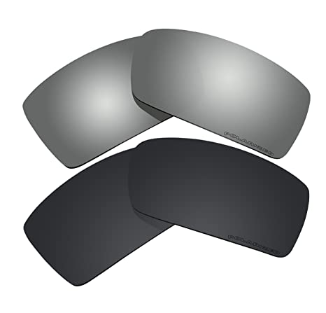 91f880f368 2 Pairs Polarized Lenses Replacement Black   Black Mirror for Oakley ...