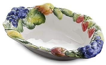 Bassano Italienische Keramik Ovale Mediterranes Obstschale 33x25