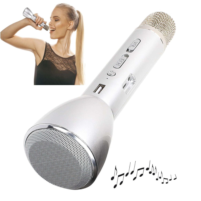 Karaoke Micrófono con efecto de sonido Bluetooth Altavoz Echo Wireless (inalámbrico, batería, puerto USB, Smartphone, PC, Tablet) ClipSonic