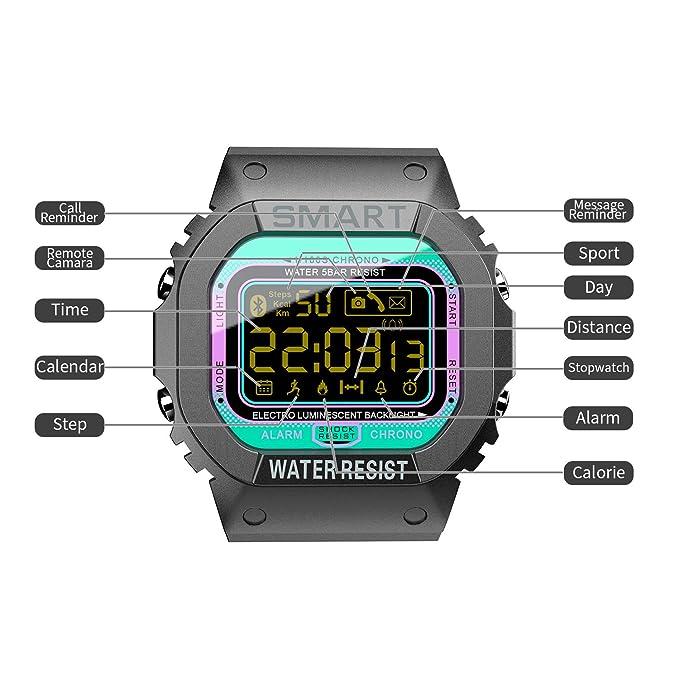 Amazon.com: LOKMAT - Reloj inteligente digital deportivo ...