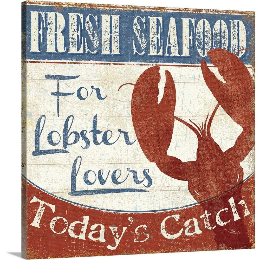 Pela Studioプレミアムシックラップキャンバス壁アート印刷題名Fresh Seafood I 24