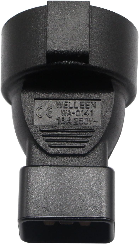 Adaptador de corriente est/ándar europeo CERRXIAN C20 a Francia