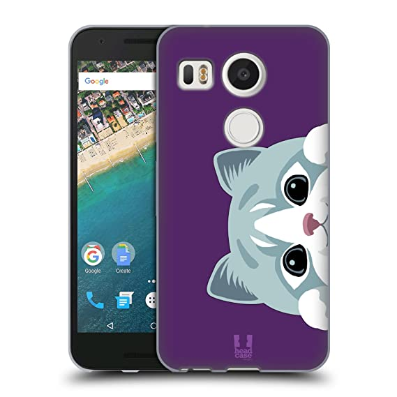info for 2e796 2a752 Head Case Designs Cat Peeking Animals Soft Gel Case for LG Nexus 5X