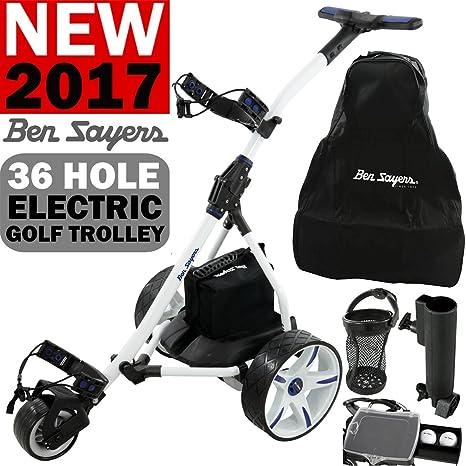 Ben Sayers Carrito de golf eléctrico, para 36hoyos, con baterí