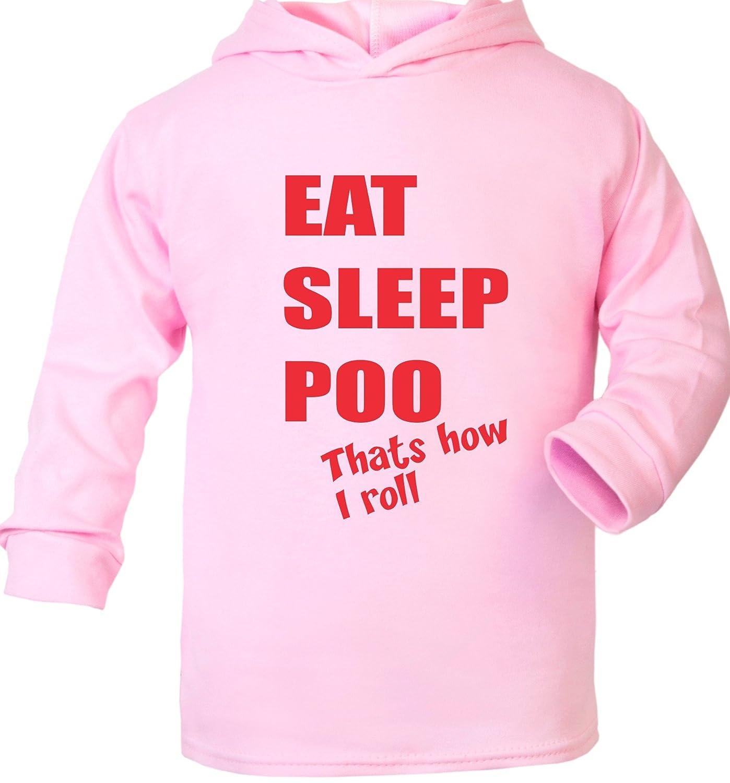 Print4u Eat Sleep Poo Cute Supersoft Baby Hoodie