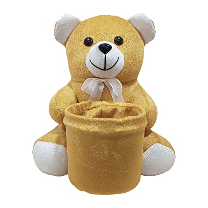 Ultra Soft Teddy Pen Stand Holder for Kids, 8 inches