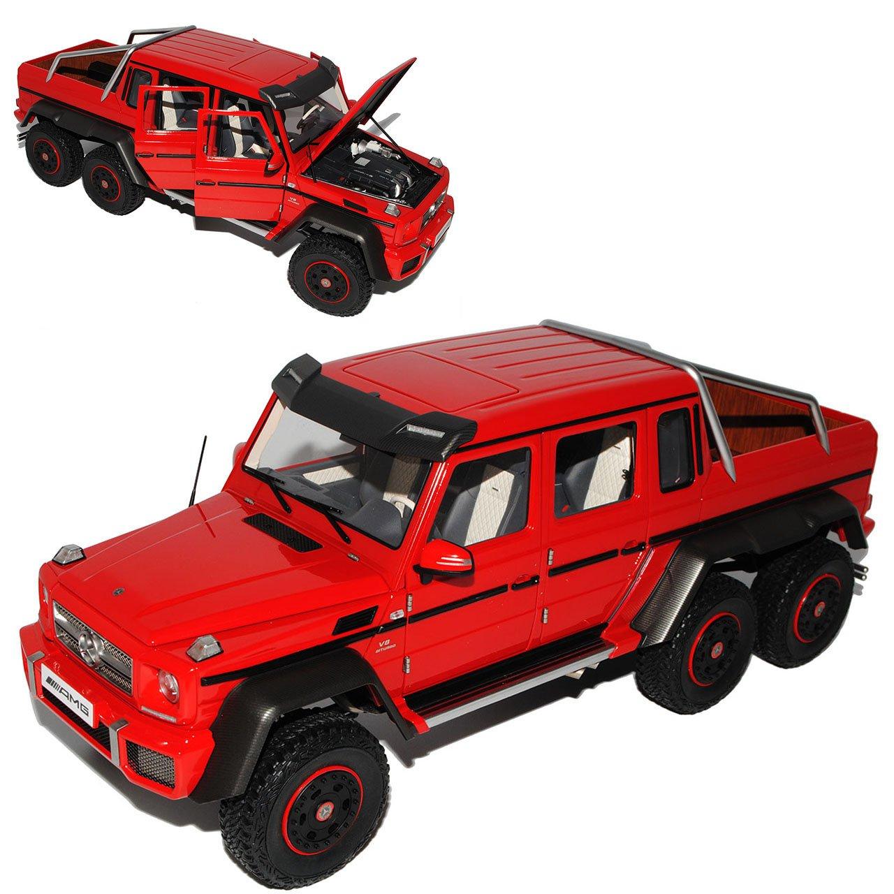 Alles-meine.de GmbH Mercedes-Benz G-Klasse G63 AMG 6x6 Rot 76304 1/18 AutoArt Modell Auto mit individiuellem Wunschkennzeichen