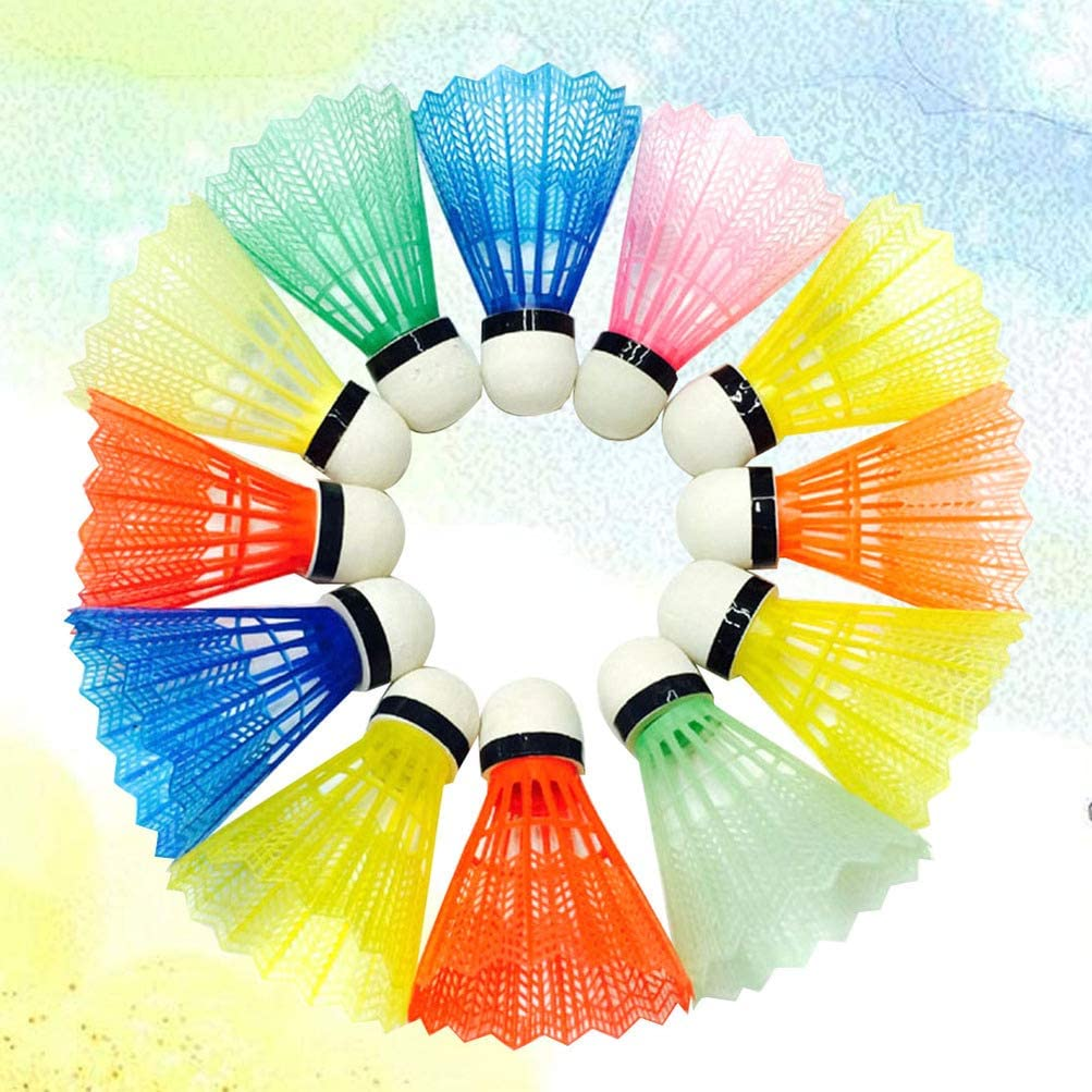 BESPORTBLE 24 Pcs Volants en Plastique Plume Badminton Haute Vitesse Badminton Birdies Balles pour Sports de Plein Air en Int/érieur Couleur Assortie