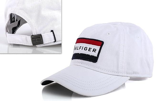 Tommy Hilfiger - Gorra de béisbol - para Hombre Blanco Blanco Talla única   Amazon.es  Ropa y accesorios 6befe361be6