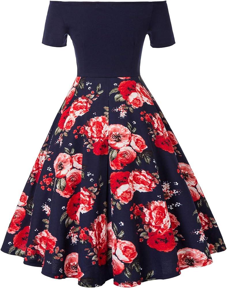 Belle - Vestido de Noche para Mujer, Vestido de cóctel Vintage ...