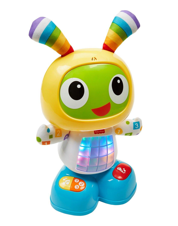 Fisher-Price Bebo le Robot Interactif Jouet d'Éveil avec 3 Modes de Jeu, Musique et Danse, Apprentissage, Enregistrement, pour Bébé de 9 Mois et Plus, CGV44 Mattel Réveils éducatifs