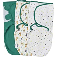 Sovpåse för Bebis - 3-pack Swaddle Wrap Inlindningsfiltar - 3 Swaddle Filtar för inlindning 100% Bomull