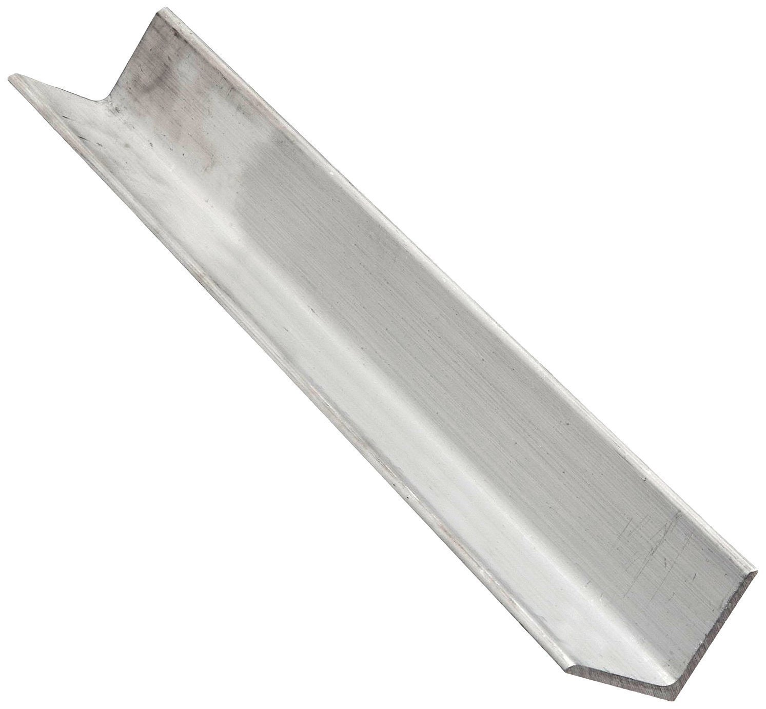 RMP 6061-T6 Aluminum American Standard Angle, 1-1/4 Inch x 1-1/4 Inch Leg Length, 1/4 Inch Wall, 72 Inch Length, Rounded Corners, Extruded, Unpolished (Mill) Finish