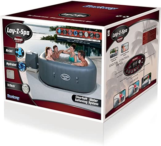 Bestway Lay- Z-Spa Hawaii HydroJet Pro Spa Hinchable: Amazon.es ...