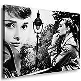 Audrey Hepburn foto auf leinwand - Pop Art Bild100x70cm k. Poster ! Bild fertig auf Keilrahmen ! Gemälde, Kunstdrucke, Wandbilder, Bilder zur Dekoration - Deko. Film / Tv Stars Kunstdrucke